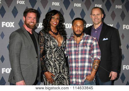 LOS ANGELES - JAN 15:  Noah Galloway, Tee Marie Hanible, Nicholas Irving, Jonathan Littman at the FOX Winter TCA 2016 All-Star Party at the Langham Huntington Hotel on January 15, 2016 in Pasadena, CA