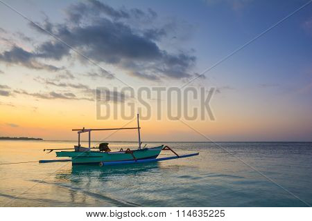 Sunrise on Gili Air Island - Bali, Indonesia