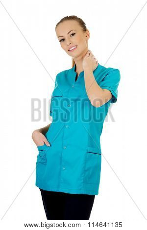 Smiling woman doctor.