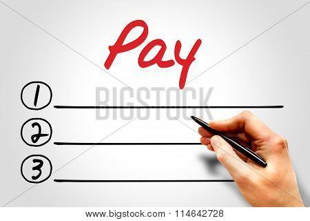 Pay Blank List