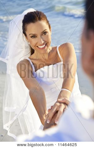 Novia & novios casaron en la boda de la playa