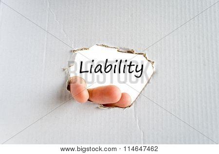 Liability Text Concept