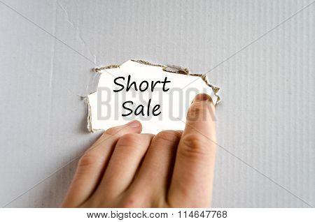 Short Sale Text Concept
