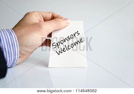 Sponsors Welcome Text Concept