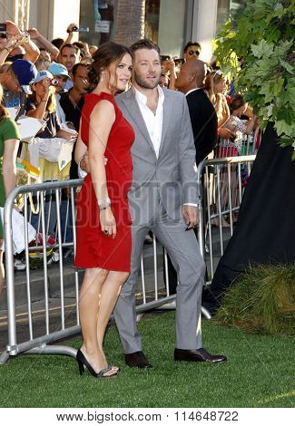 LOS ANGELES, CALIFORNIA - August 6, 2012. Joel Edgerton and Jennifer Garner at the Los Angeles premiere of 'The Odd Life Of Timothy Green' held at the El Capitan Theater, Los Angeles.