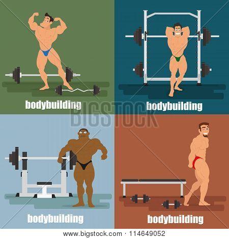 four icons - bodybuilding