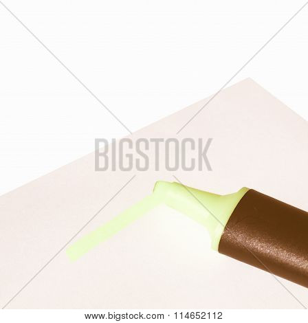 Highlighter Marker Vintage