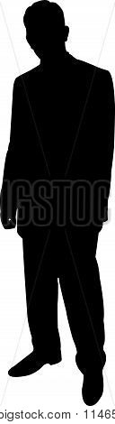 standing man silhouette vector
