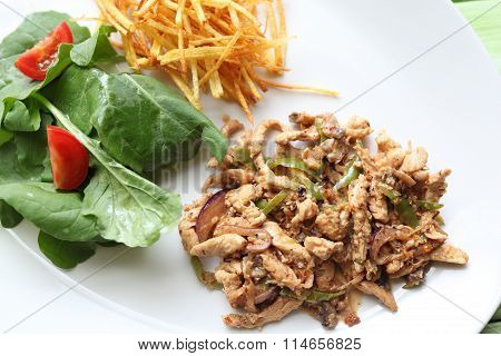 Chicken Salted With Onions