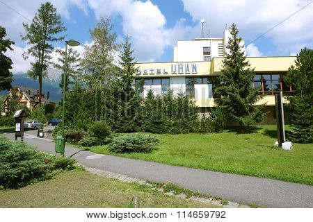 Landscape With Hotel In Tatras.