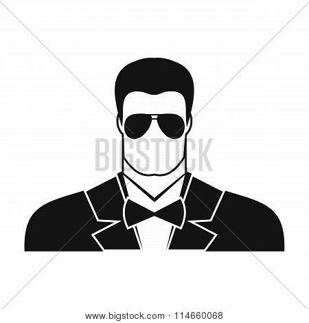Bodyguard agent man icon