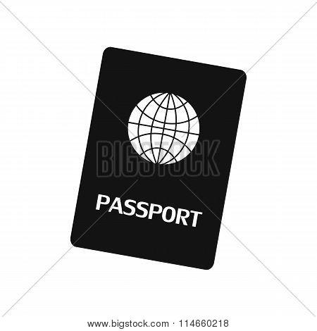 Passport black simple icon