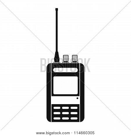 Radio black simple icon