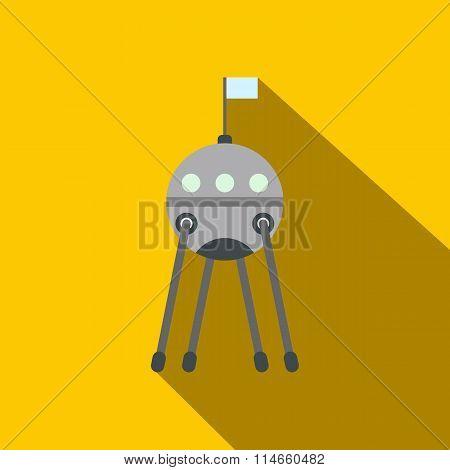 Sputnik flat icon
