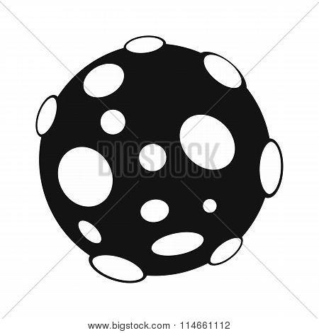 Moon black simple icon