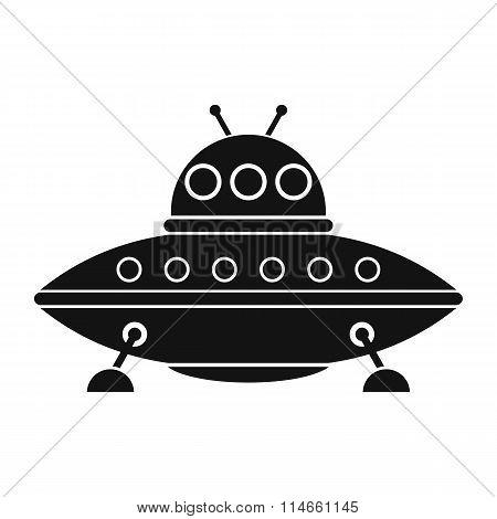 UFO black simple icon