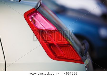 Taillight On A Car