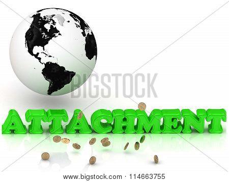Attachment - Bright Color Letters, Black And White Earth