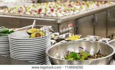 Avocado Salad Being Prepped