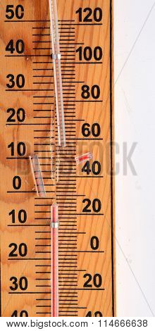 Wooden Out Of Order  Thermometer