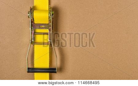 Yellow Ratchet Strap With Copy Space