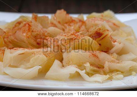 Sauerkraut with cayenne pepper