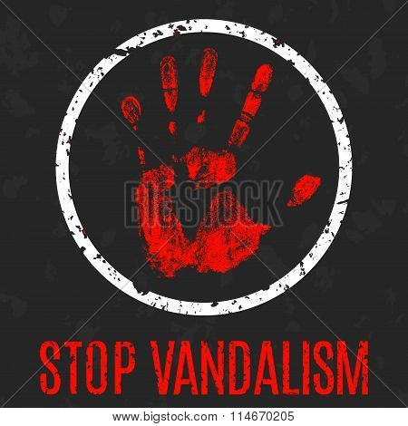 Stop Vandalism Sign