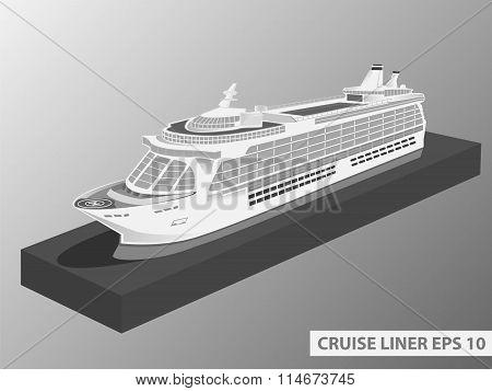 Cruise Liner Ocean Trip Grey