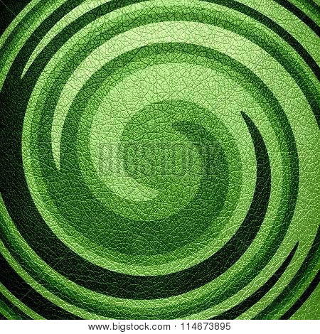 Abstract Green Spiral Leather Background