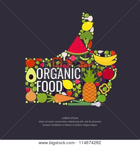 Organic Food. Fruits And Vegetables.