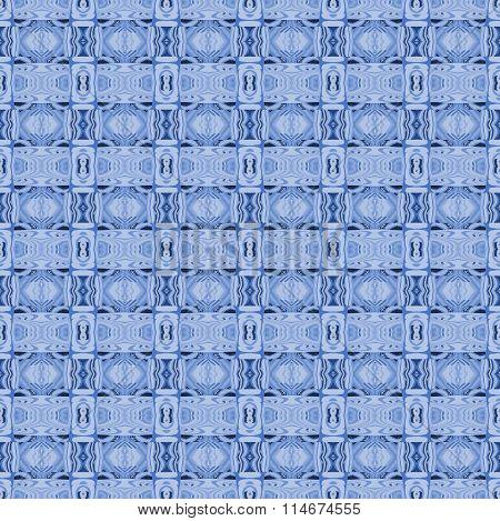 Seamless diamond pattern blue gray