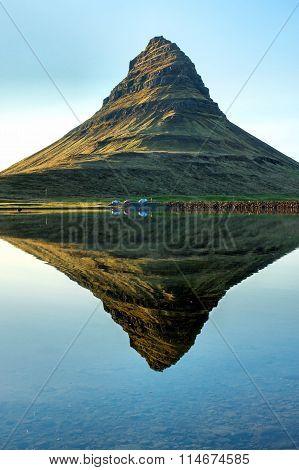 Reflection of Mount Kirkjufell