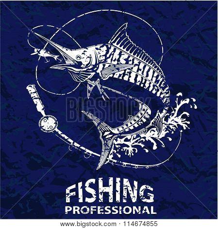 Marline Fish Blue Retro Paper 3
