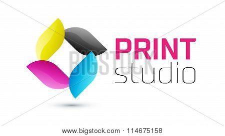 Print studio logo, CMYK logo