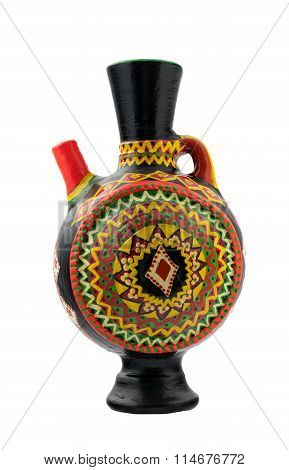 Black Decorated Handcrafted Pottery Jug