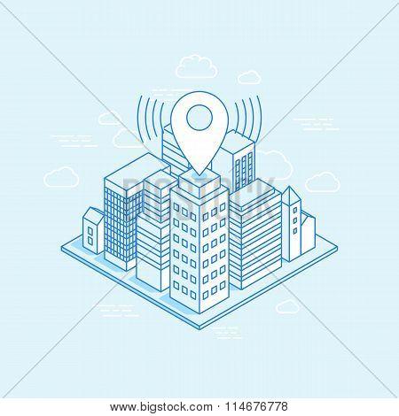 Vector Isometric City Illustration