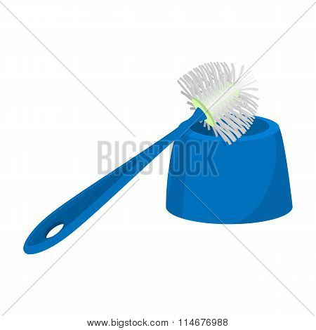 Toilet brush cartoon icon