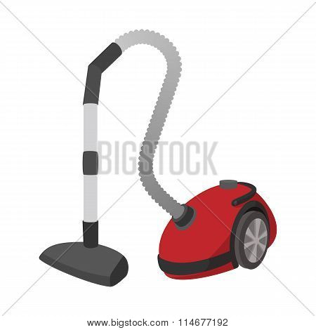 Modern vacuum cleaner cartoon icon