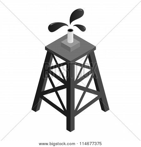 Oil rig isometric 3d icon