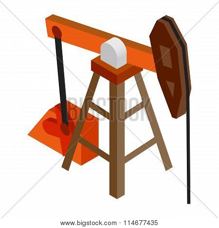 Oil pump isometric 3d icon
