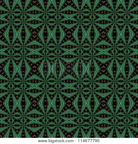 Seamless diamond pattern green black orange