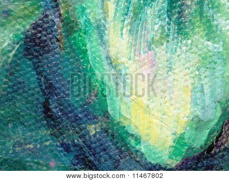 Abstract Lotus Painting Abstract Painting of Lotus