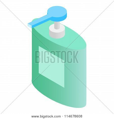 Liquid soap dispenser isometric 3d icon
