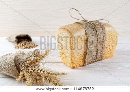 White Bread Wrapped In Burlap