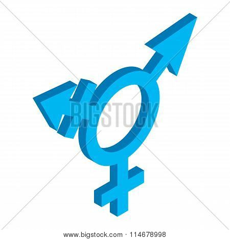 Bisexuals sign isometric 3d icon