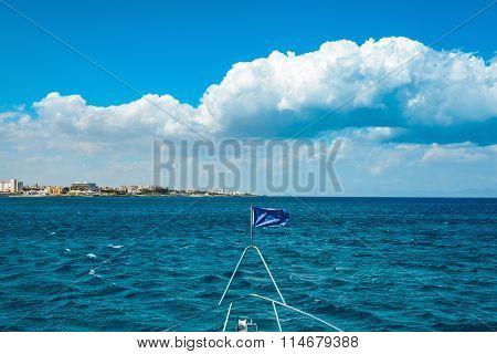 Eu Flag On The Ship