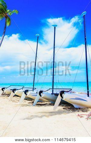 Boat On A Sandy Beach