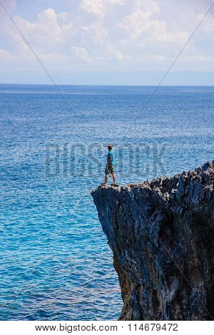 Male Edge Of A Cliff