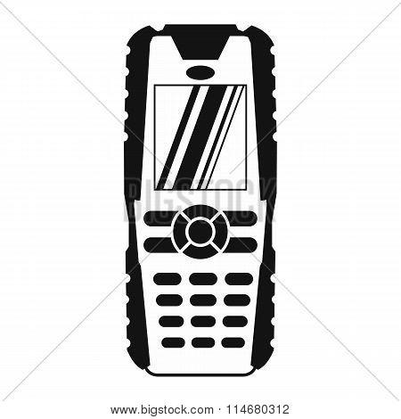 Mobile phone black simple icon