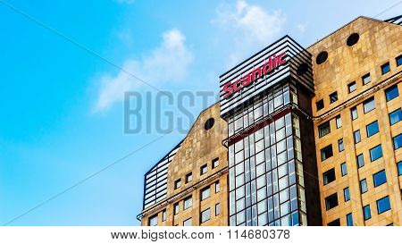 Malmo, Sweden - January 4, 2015: Scandic Hotel In Malmo, Sweden. Scandic Hotels Is A Hotel Chain Hea